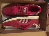Size 4 pink Adidas trainers