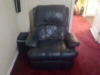 Recliner Sofas ( Black Leather )