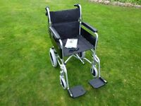 WHEELCHAIR LIGHTWEIGHT ALUMINIUM FOLDABLE ALMOST BRAND NEW 2 MONTH OLD