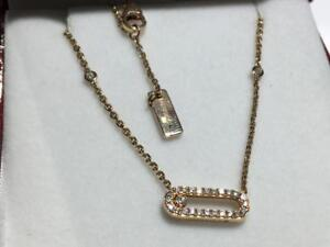 "#1593 18K ROSE GOLD MESSIKA PARIS MOVE UNO DIAMOND NECKLACE 16"" .30CT IN DIAMONDS. APPRAISED FOR $2550.00 SELL FOR $1095"