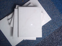 Wall Tiles x 23 (20cms x 15cms) Beige / Pink - Bathroom - Garage Clear Out