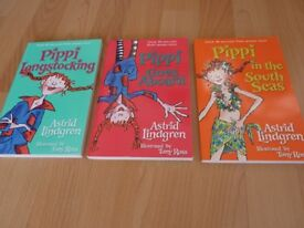 Pippi Longstocking - 3 books new and unused
