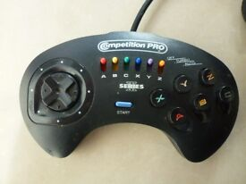 Sega Mega Drive Competition Pro Controller Series 3 - 6 Buttons Joypad - Birthday Christmas Wedding