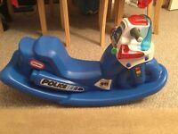LITTLE TIKES -LIT UP POLICE ROCKER