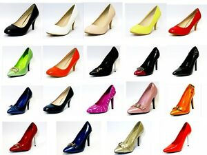 LADIES-COURT-SHOES-WOMENS-SMART-MID-HIGH-HEEL-WORK-OFFICE-FORMAL-SHOES