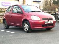 2003 (May 03) TOYOTA YARIS 1.0 COLOUR COLLECTION VVTi 16V -Hatch 3 Door - Petrol - Manual - RED *MOT