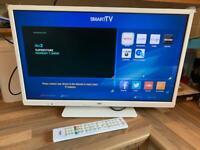 "BUSH 24"" SMART LED TV DVD PLAYER FREEVIEW HDMI VGC"
