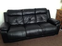 **free** Black 3 Seater And Reclining Armchair