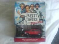 BBC FAWLTY TOWERS DVD SET PLUS CORGI CAR AND FIGURE