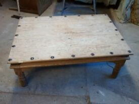 Coffee Table ...Pine Large and low used and restored