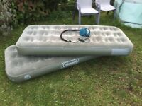 Two Inflatable Airbeds / Mattresses