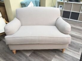 Somerton 2 Seater Snuggle Chair Topaz Natural