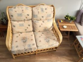 2 Seater Cane Sofa Ideal For Conservatory