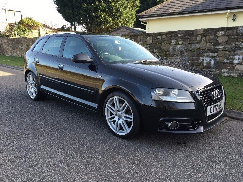 2012 audi a3 1 6 tdi s line sportback 5dr satnav full service history in rhondda cynon taf. Black Bedroom Furniture Sets. Home Design Ideas