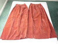 "Mock Velvet Curtains Pr Mediium Pink Standard make ""Ever-so-Sure"" Aristocrat Used good"