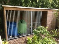 DOG KENNEL - Kennelstore 14'x4' Chesterfield + EXTRAS - ESHER&LOCAL DELIVERY ONLY - GOOD CONDITION