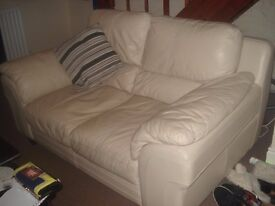 Matching Leather Sofa & Armchair