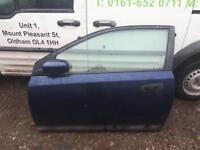 2003 Honda Civic passenger side door 3 door in dark blue
