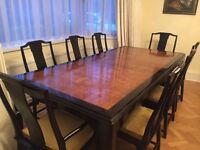 Harrods Large Extendable Dining Table & 8 x Chairs