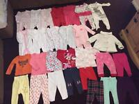 large bundle of baby girl clothes 9-12 months
