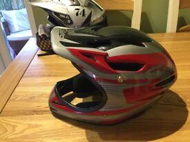 Fox v2 motor cross helmet and goggles