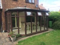 Wooden Conservatory 3m x 5m approx