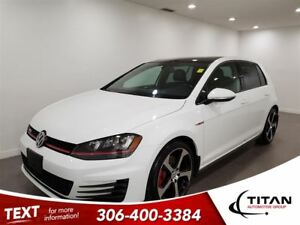 2015 Volkswagen Golf GTI Manual|Cam|Leather|Sunroof|Nav