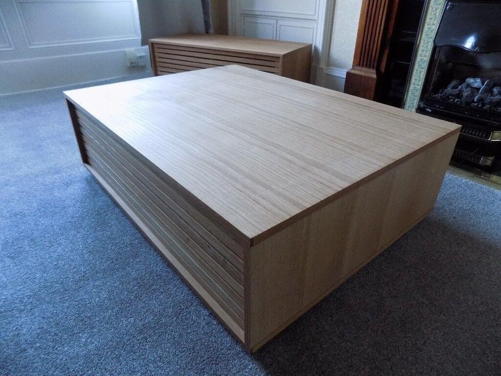 Habitat Max Oiled Oak Coffee Table With Internal Storage