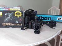 NIKON D5000 DSLR + 18-55 & 50-200mm Lens + accessories. Perfect working order. Excellent condition.