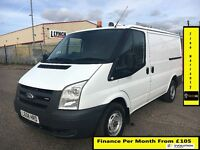 Bargain SALE!!Ford Transit Van 2.2 300-1 Owner-EX BT,FSH -9 Stamps1YR MOT- 81 K Miles -Elec Windows