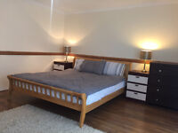 Light two bedroom apartment with additional sofa bed available for short lets in Ashford, Heathrow