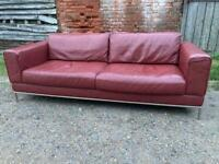 Stylish leather sofa + Free Delivery