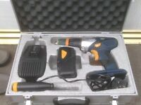 CORDLESS DRILL WITH CHARGER AND METAL CASE £30