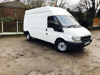 FORD TRANSIT 03 REG 2.4L LWB HIGH TOP 125 PSI 12 MONTHS MOT