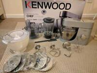Kenwood chef titanium with ice cream maker