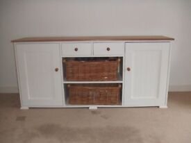 Bespoke contemporary sideboard with solid wood top