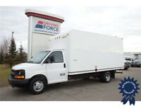 White 2012 Chevrolet Express 3500 16 ft Cube Van - 6 Speed A/T