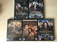 Twilight DVD full set. New Moon, Eclipse, Breaking Dawn. VGC.
