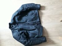 Oxford, Mens Leather Motorcycle Jacket, size XL/44 very good condition