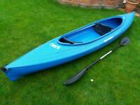 Kayak - 'Perception Kiwi 2' double seat, with single paddle and double spraydeck.