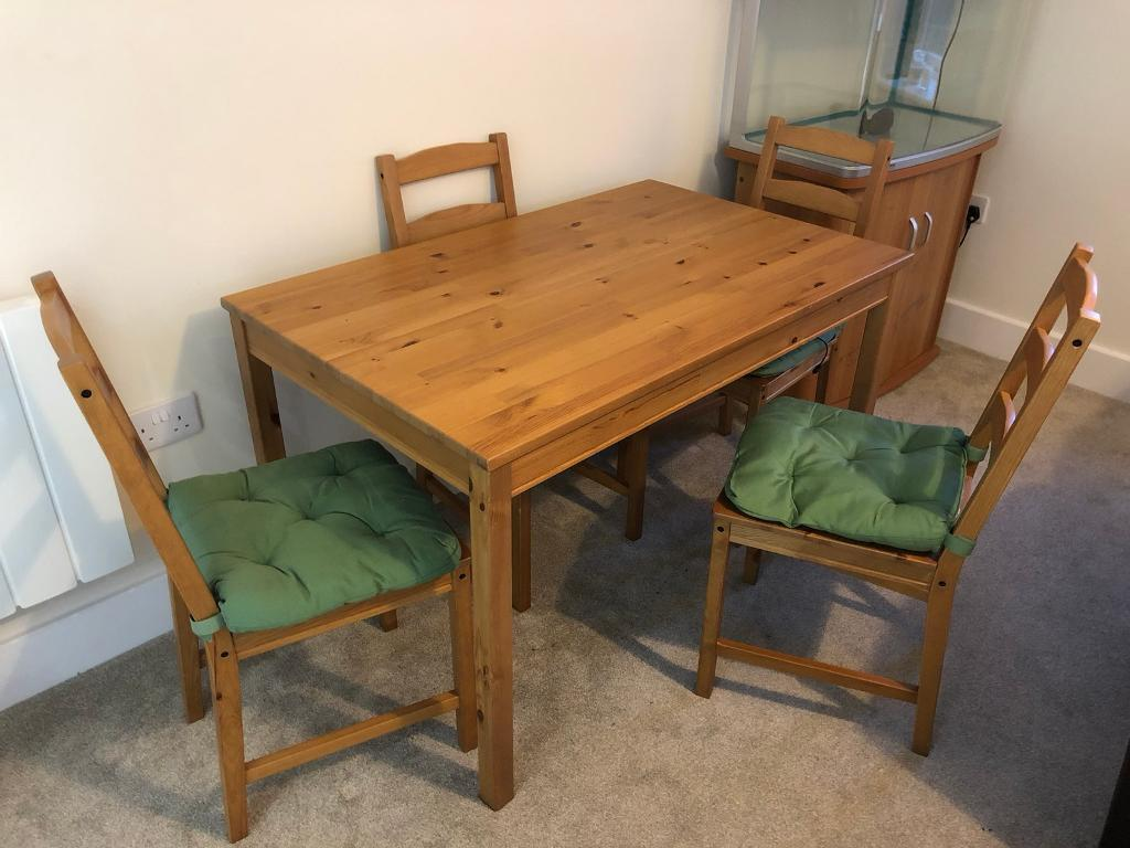 Ikea Jokkmokk Table And 4 Chairs With Cushions In
