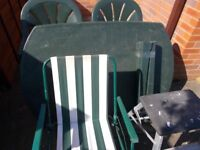 Collection used garden furniture