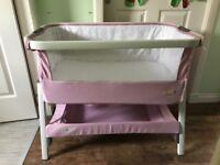 Tutti Bambini Cozee Bedside Crib - Pink