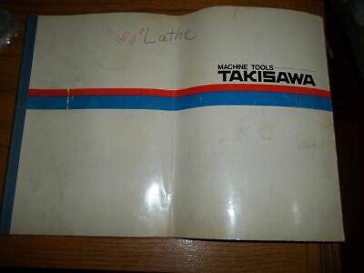 Takisawa Machine Tools Tc-1 Parts List Manual