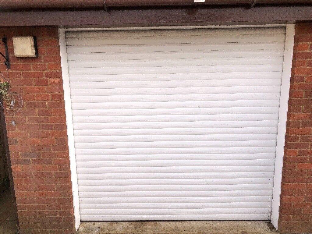 Remote Control Single Secure Glide Electric Roller Garage Door In