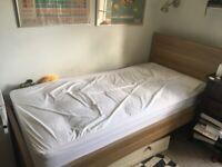 Single bed, oak laminate, John lewis