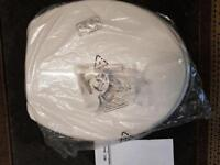 brand new white ideal standard toilet seat and cover (not soft close)