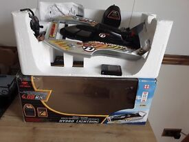 Radio controlled boat in good working order still boxed used once