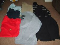 jeans bnwt 28 waist 30 leg £15,bundle size S- 4 jumpers, 3 polo shirts £10 jumper size s £2