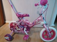 Toys R us Girls unicorn bike with handle